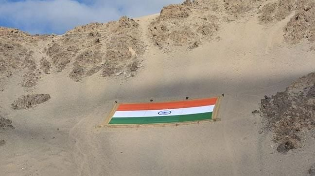 World's largest Tricolour made of Khadi installed in Leh; weighs 1,000kg