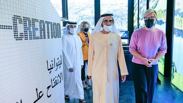 Sheikh Mohammed visits Lithuanian, Swedish pavilions at Expo 2020 Dubai