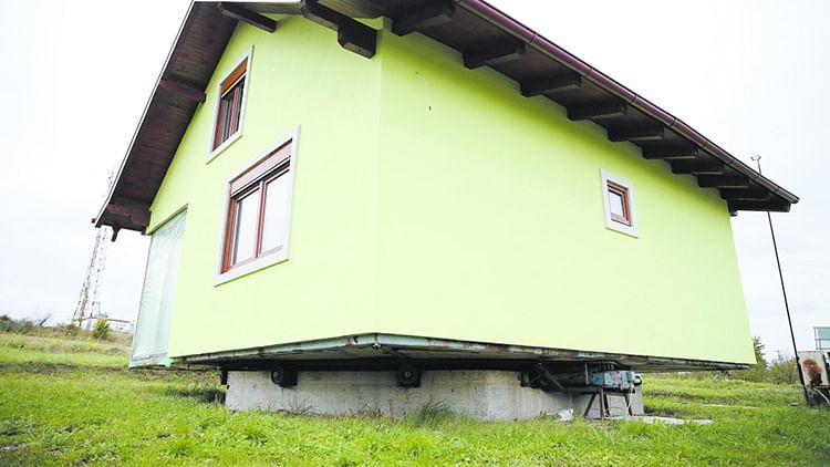 Bosnian man builds rotating house for his wife to change views