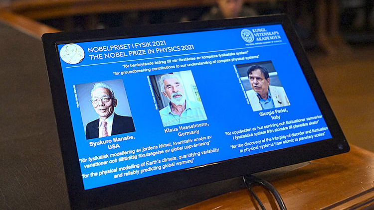 Nobel Physics Prize goes to 3 climate experts
