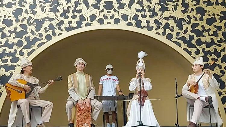Cultural performances entertain visitors at the Kazakhstan pavilion at Expo 2020 Dubai