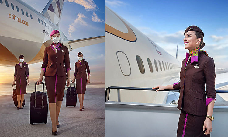 Ukrainian airline ditches skirts and heels for loose suits and sneakers
