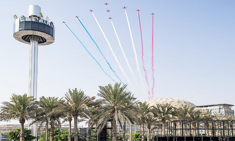 Red Arrows inspire budding engineers at Expo 2020's UK Pavilion