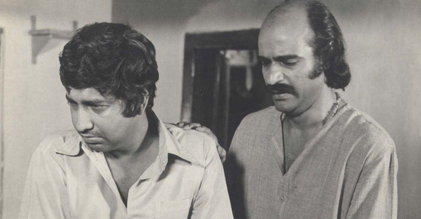 Nedumudi Venu in movie Rachana with Bharath Gopi