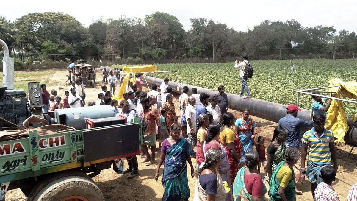கெயில் நிறுவன பணியை தடுத்ததாக விவசாயிகள் 8 பேர் மீது போலீஸ் வழக்குப்பதிவு!