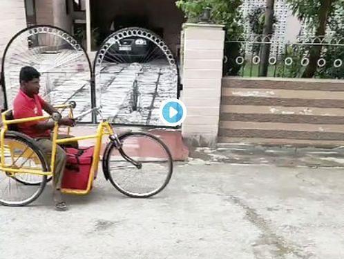 மூன்று சக்கர வாகனத்தில் டெலிவரி செய்யும் மாற்றுத் திறனாளி - நம்பிக்கை மனிதர் zomato ராமு