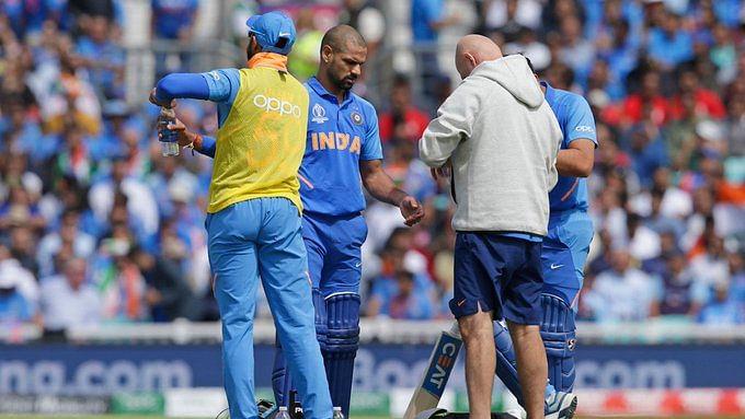 உலகக்கோப்பை 2019 : காயம் காரணமாக ஷிகர் தவான் விலகல் ! மாற்று வீரர் யார் ?