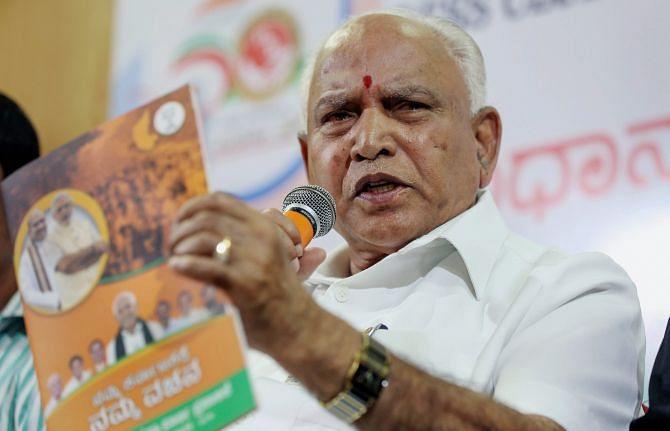 """""""எங்களுக்கு கன்னட மொழிதான் முதன்மையானது"""" - இந்தி குறித்த அமித்ஷா கருத்துக்கு எடியூரப்பா பதிலடி!"""