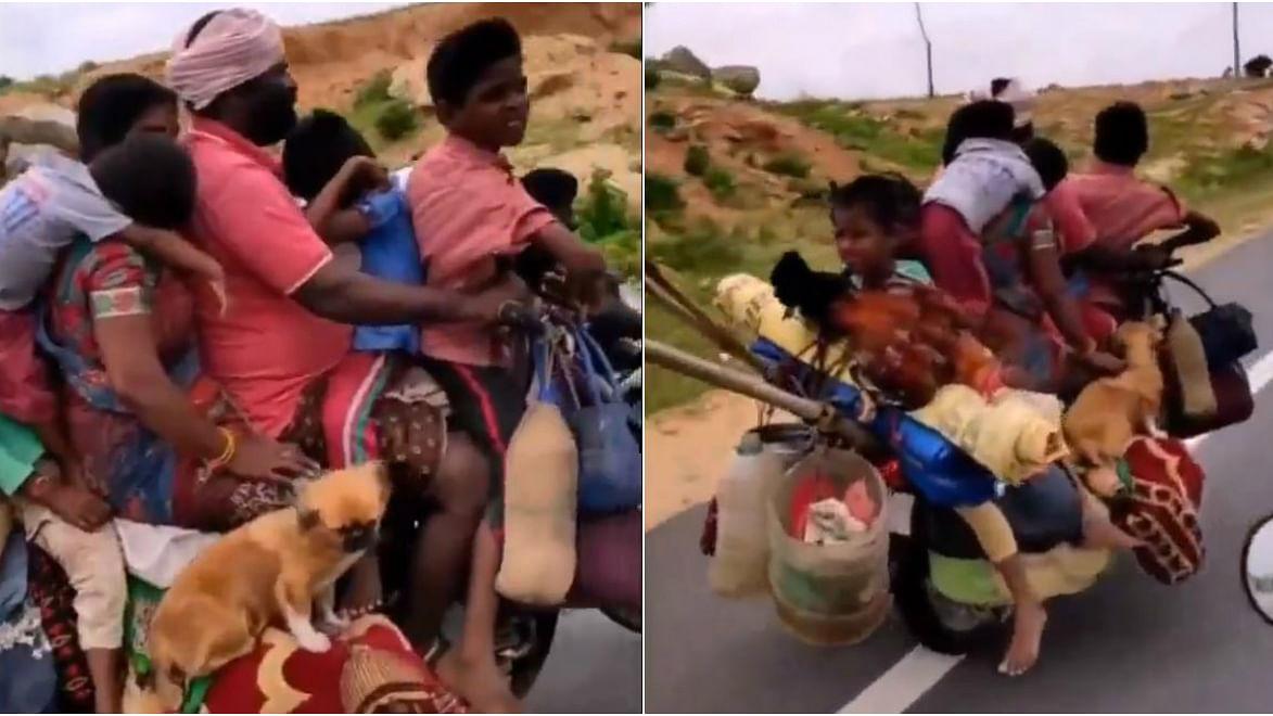 """""""இது பைக்கா... இல்ல லோடு ஆட்டோவா?"""" - மொத்தக் குடும்பமும் இணைந்து ஒரு சாகசப் பயணம்! (Video)"""