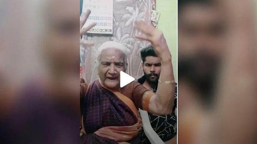 டிக்டாக்கில் லட்சம் பேரை கவர்ந்த 'பிகில் பாட்டி' - வைரல் வீடியோ!