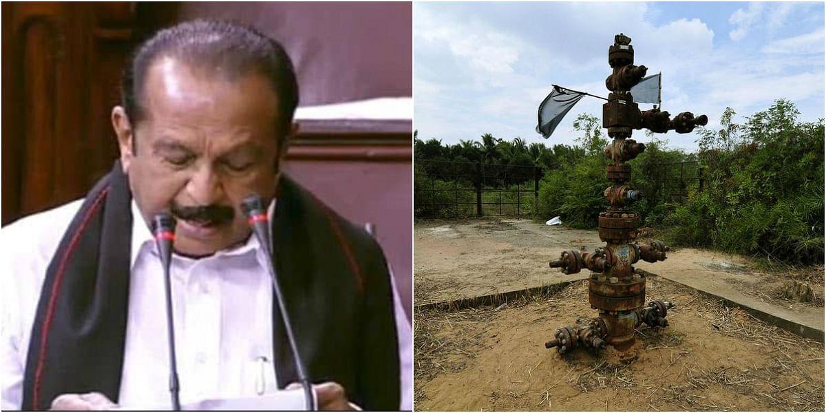 """""""டெல்டா பகுதியில் 15 இடங்களில் ஹைட்ரோகார்பன் கிணறுகளுக்கு ஒப்புதல்"""" - வைகோ கேள்விக்கு அமைச்சர் பதில்!"""