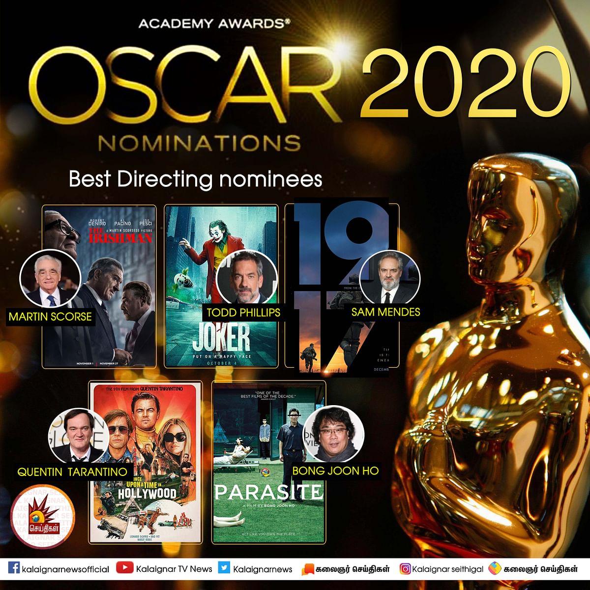 ஆஸ்கரை ஆக்கிரமித்த 'ஜோக்கர்' : பல பிரிவுகளின் கீழ் பரிந்துரை! #Oscars2020