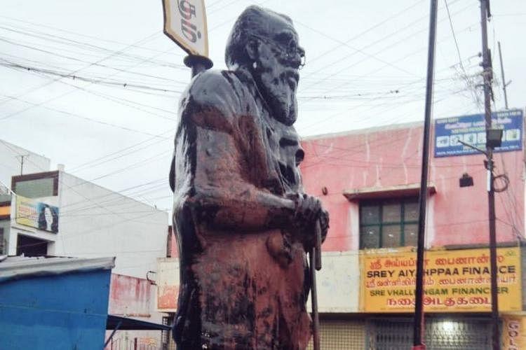மீண்டும் பெரியார் சிலை அவமதிப்பு : வேடிக்கை பார்க்கும் மத்திய - மாநில அரசுகளுக்கு கி.வீரமணி கண்டனம்!