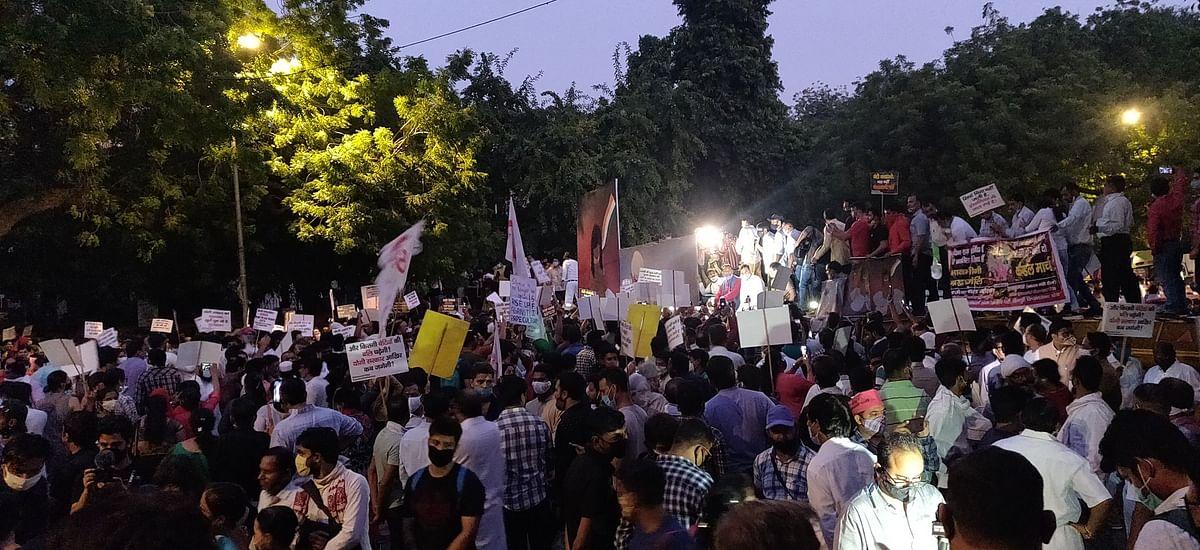 உ.பி கொடூரம் : பா.ஜ.க அரசை டிஸ்மிஸ் செய்யக்கோரி ஜந்தர் மந்தரில் போராட்டக்காரர்கள் முழக்கம்! #Video