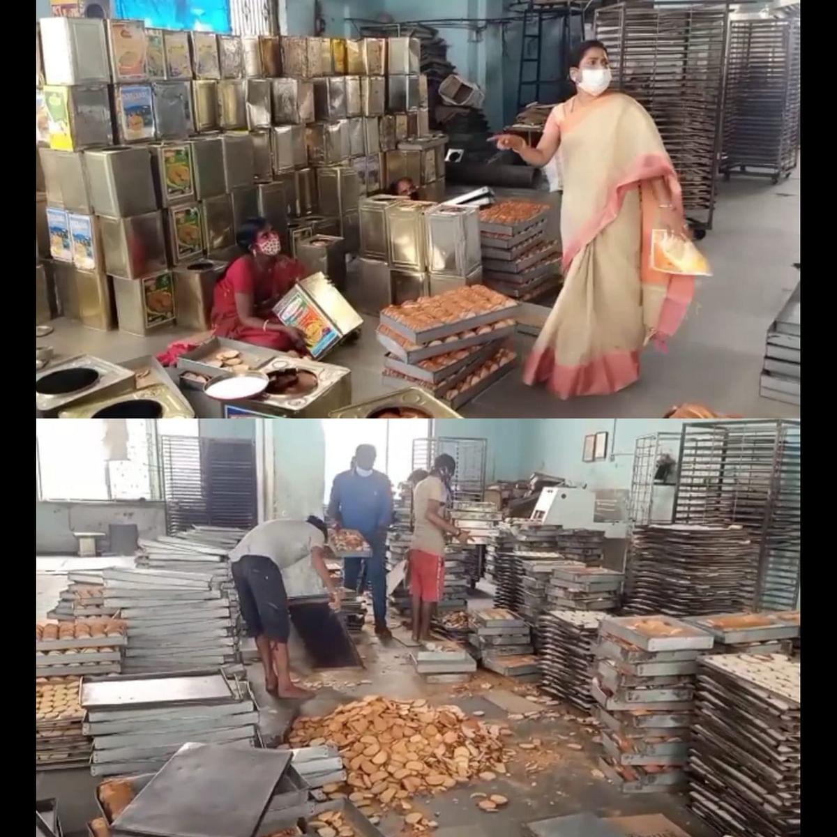 நாக்கால் நக்கி, காலால் மிதித்த வடமாநில தொழிலாளி: ரஸ்க் ஆலை மீது அதிரடி ஆக்ஷன் எடுத்த அதிகாரிகள்!