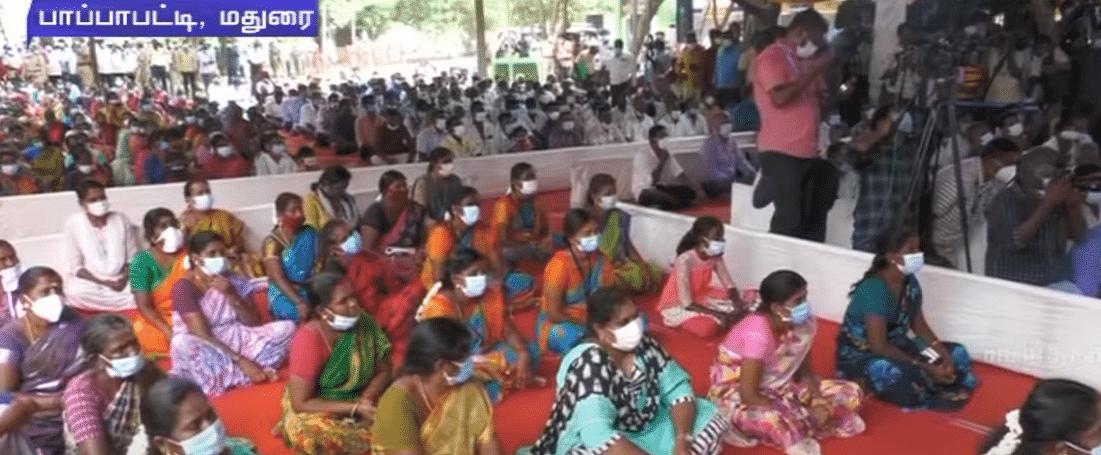 """""""குறை இருந்தால் சொல்லுங்கள்.."""" :  கிராம சபைக் கூட்டத்தில் சகஜமாக கலந்துரையாடிய முதலமைச்சர் மு.க.ஸ்டாலின்!"""