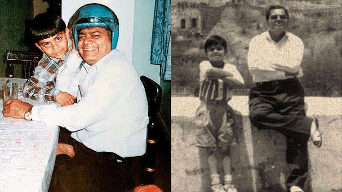தந்தை பிரேம் கோலியுடன் விராட் கோலி