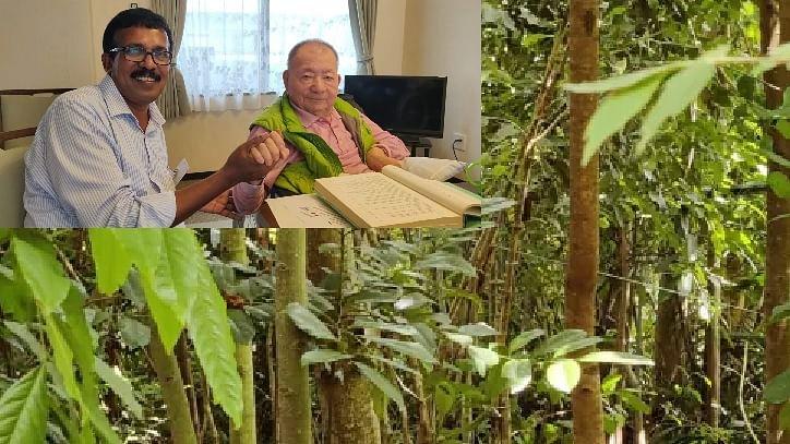 ஜப்பான் முறையில் 3 சென்ட் நிலத்தில் 400 மரங்கள்:  கேரள விவசாயி சாதனை