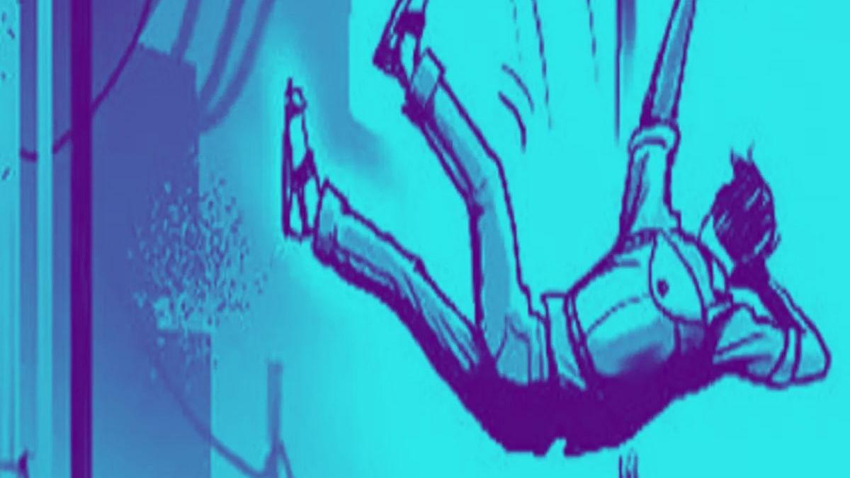 பெயின்ட் அடித்த தொழிலாளர்   2-வது மாடியிலிருந்து விழுந்து உயிரிழப்பு
