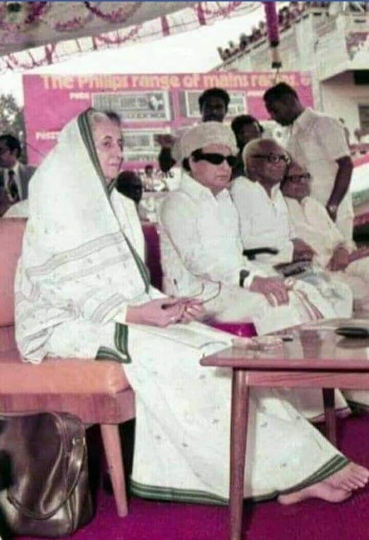 இந்திரா காந்தி, எம்ஜிஆர் ஆகியோருடன் ஆர்.வி.எஸ்