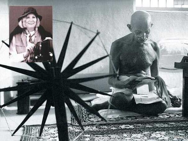 பேசும் படம்: மார்கரெட் ராட்டையும் மகாத்மா காந்தியும்!