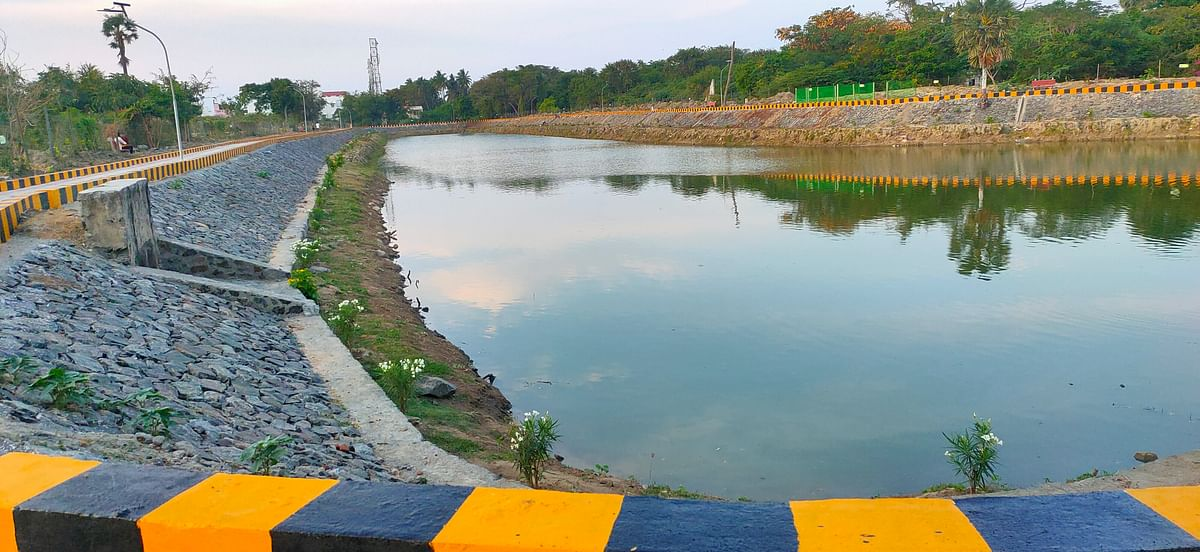 Injambakkam pond in Chennai restored by Grundfos and Hand In Hand India