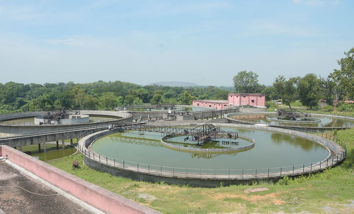 A view of the L&T water treatment plant at Jamadoba in Dhanbad