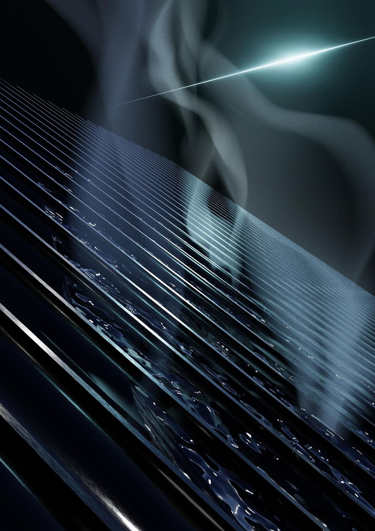 The researchers developed a laser processing technology that turns regular aluminum pitch black, making it highly absorptive, as well as super-wicking. They then applied this super absorptive and super-wicking aluminum for solar water purification.