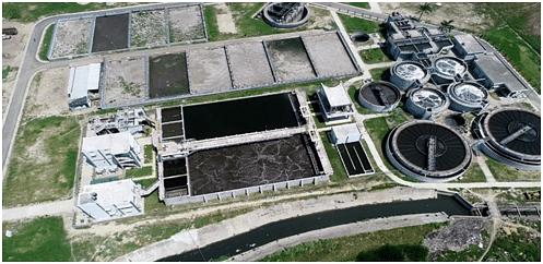 Full view of the Salori Sewage Treatment Plant