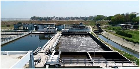 Sewage treatment using the SBR process