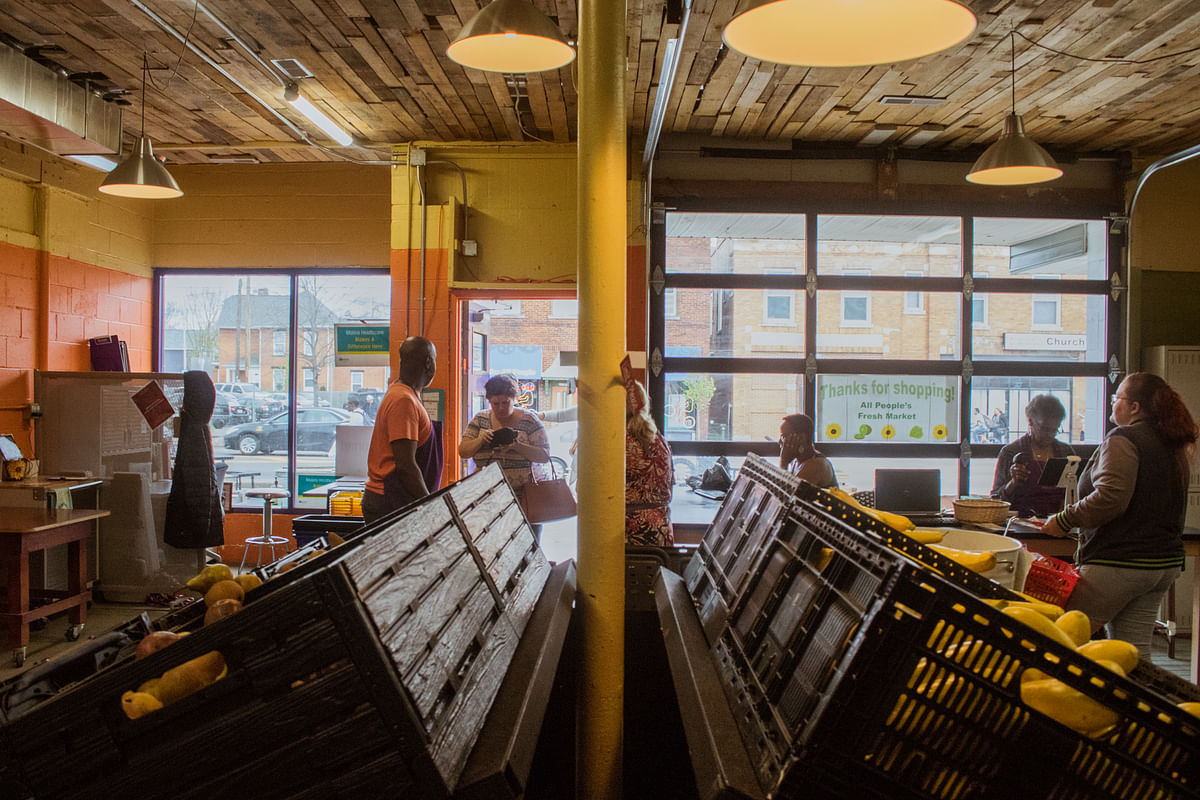 An old liquor store turned into a food pantry is a part of Church Of All People's effort toward asset-based development. The idea is that community development should be a holistic approach based on the existing strengths of a neighborhood.