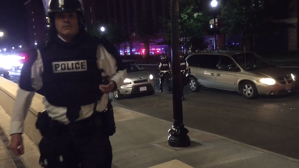 Does freedom of the press extend to covering police?