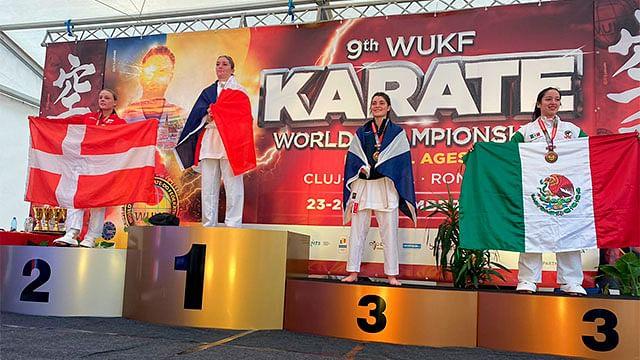 Alumna del Tec de Morelia obtiene bronce en competencia mundial de karate