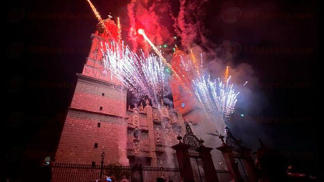 Encendido de catedral de Morelia regresará la noche del 30 de septiembre