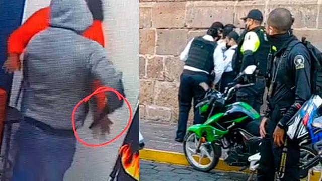 Arrestan a buscado ladrón mientras paseaba por Las Rosas, en Morelia