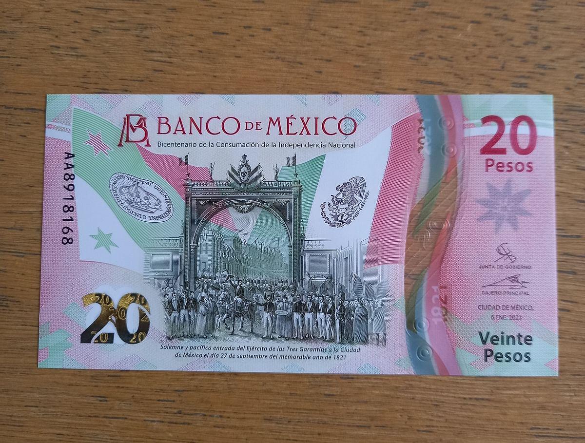 Nuevo billete de 20 pesos tendrá colores de la Bandera de México