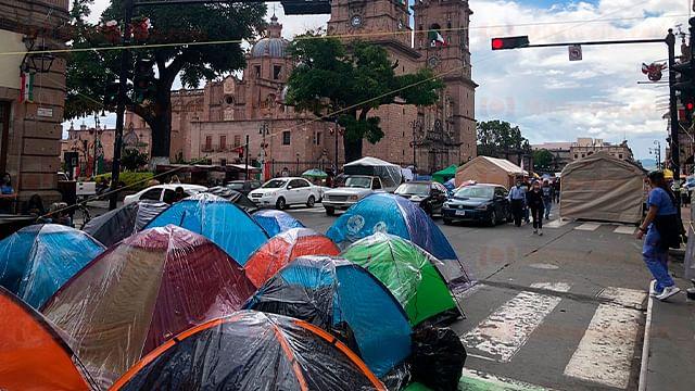 Por pandemia y plantón, pérdidas de hasta 600 mil pesos en Morelia: Covechi