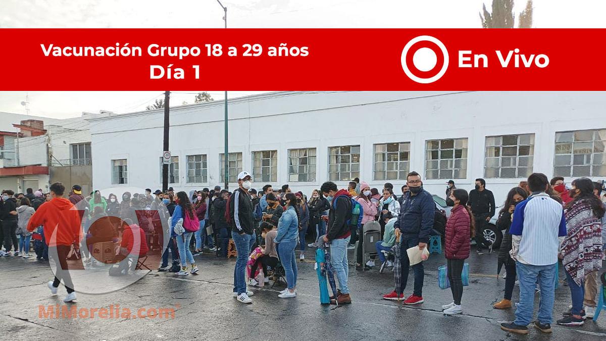 #EnVivo Jornada de vacunación de jóvenes entre 18 y 29 años en Morelia