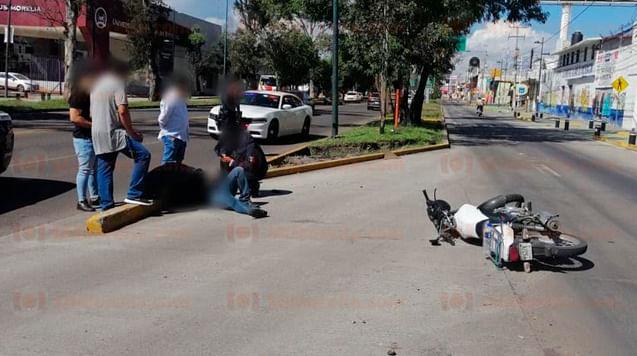 Se registra choque en Morelia [Video]