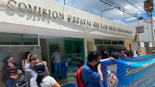 CNTE presenta demanda contra Ejecutivo estatal por falta de pago