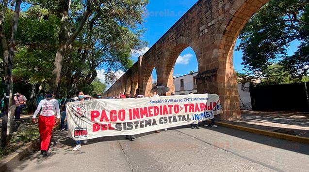 Marchas y bloqueos de la CNTE le esperan este martes a Morelia