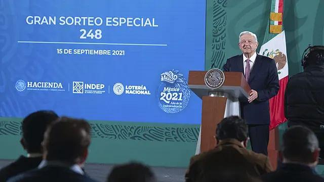 El valor por billete de la Lotería Nacional será de $250.00 y se rifan 22 premios con valor de 250 millones de pesos