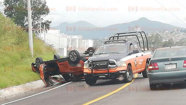 Dos accidentes viales en Morelia dejan saldo de 2 heridos