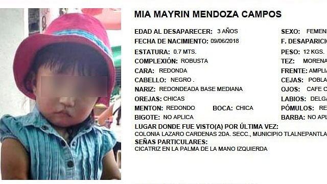 Hallan cuerpo de niña de 3 años, desparecida en derrumbe del Cerro del Chiquihuite