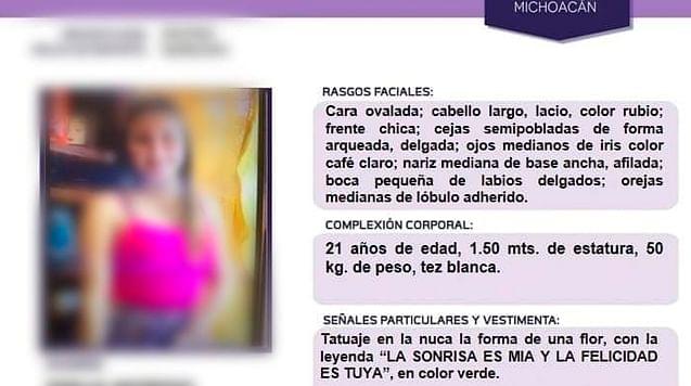 Joven madre reportada como desaparecida es hallada muerta