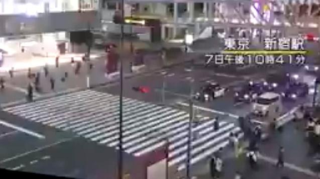 Captan en videos sismo de 5.9 en Japón