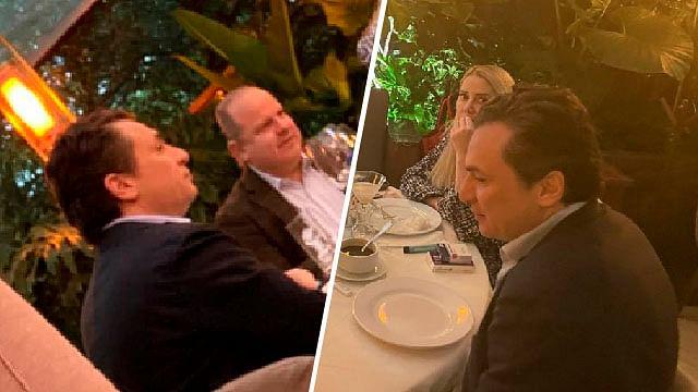 """Periodista señalada por Lozoya lo capta """"libre"""" en un restaurante de la CDMX"""
