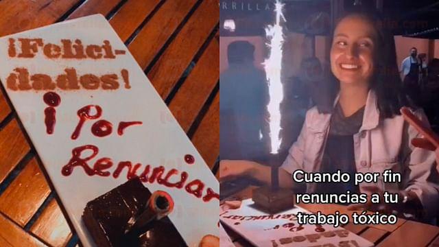 Joven celebra que renunció a su trabajo tóxico y la peculiar celebración se viraliza