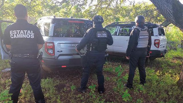 Michoacán: Recuperan cuatro vehículos robados a nodrizas ya aseguradas