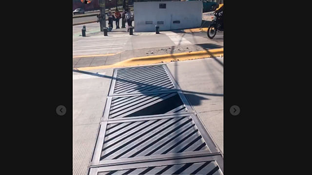 Denuncian alcantarilla peligrosa en la avenida Pedregal, en Morelia